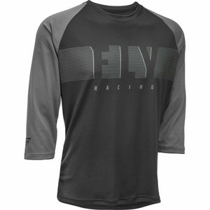 Fly Racing Ripa 3/4 Sleeve Jersey 21 Fly Racing 2021 Black/Charcoal Grey 21 2X