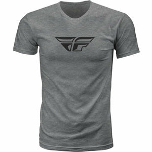 Fly Racing F-Wing Tee 21 MoreFreakinPower DARK GREY HEATHER 2X