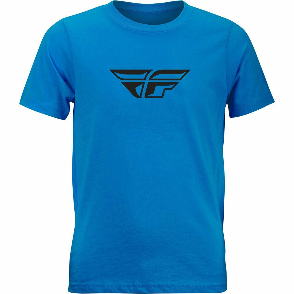 Fly Racing Youth FWing Tee 21 Fly Racing 2021 TURQUOISE YL
