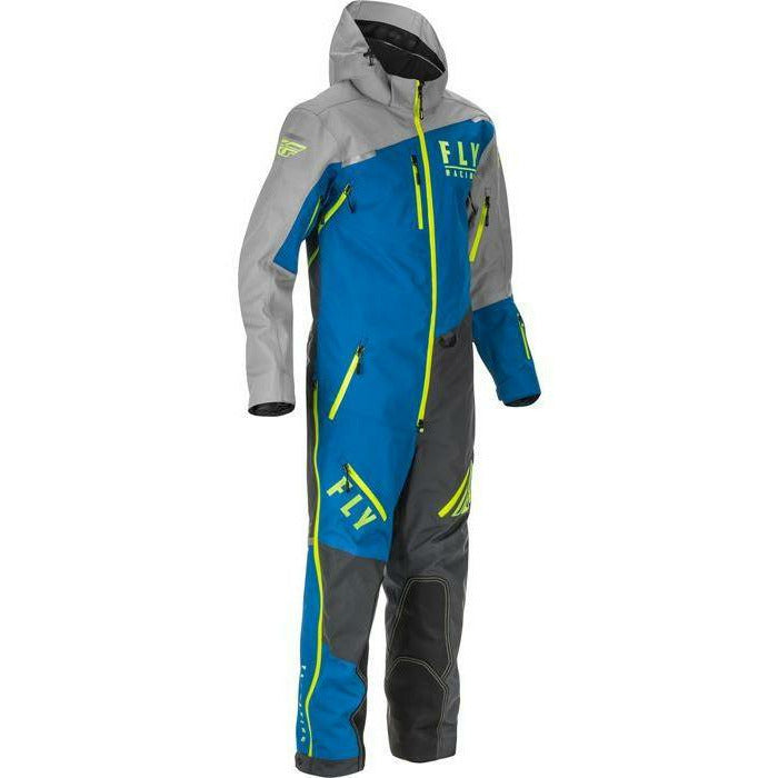 Fly Racing Cobalt Snowbike Mono Shell 21 Monosuit Fly Racing Blue/Grey/Hi-Vis SM