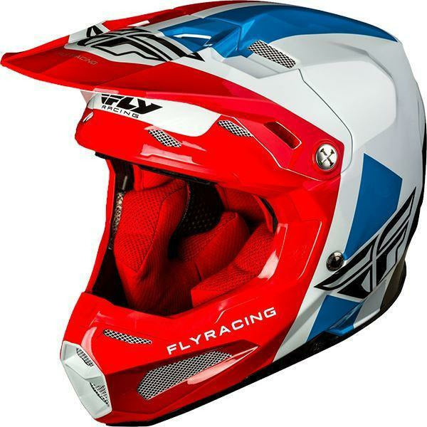 Fly Racing Formula Helmet Pre-Order Only Helmet Fly Racing Red/White/Blue 2X