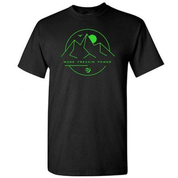 2020 MFP - Premium Fitted Tee Casaul MoreFreakinPower Black/Green SM