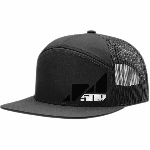 509 Hextant 7 Panel Trucker Hat Hat 509 Black
