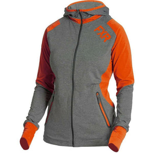 FXR Clash Active Women's Hoodie | Sale Hoodie FXR Grey Heather/Tangerine x-small