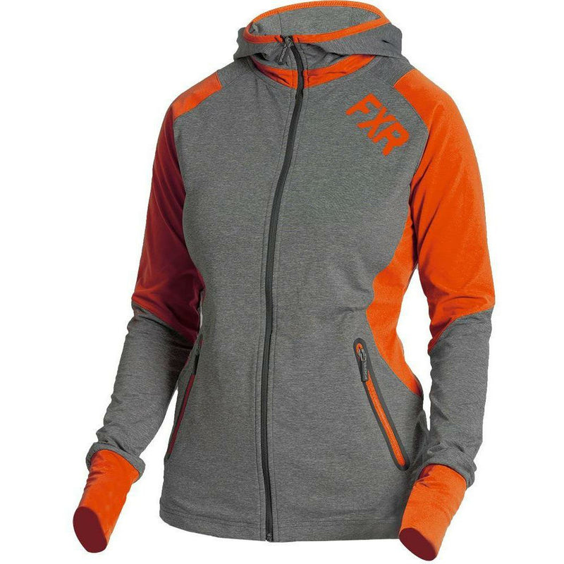 FXR Clash Active Women's Hoodie | Sale Hoodie FXR Grey Heather/Wineberry small