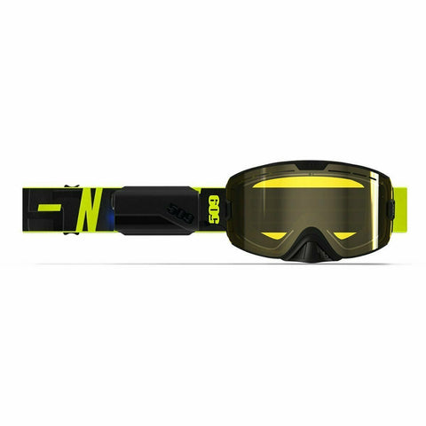 509 Kingpin Ignite Goggle 2020 Goggles 509 Hi-Vis Black Heated Yellow Tint