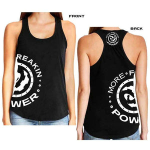 More Freakin Power Racer Back Tank T-Shirt MoreFreakinPower White Small