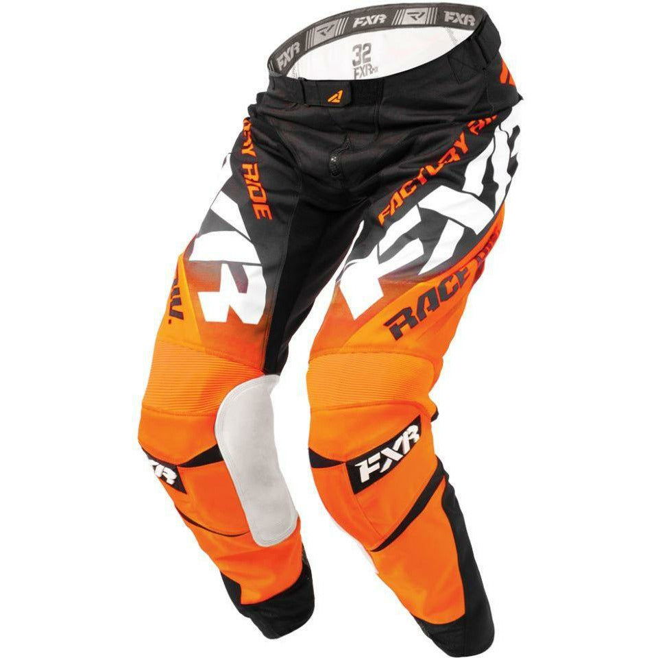 FXR MISSION MX PANT 18 Pants & Bibs FXR BLACK/ORANGE/WHITE 30