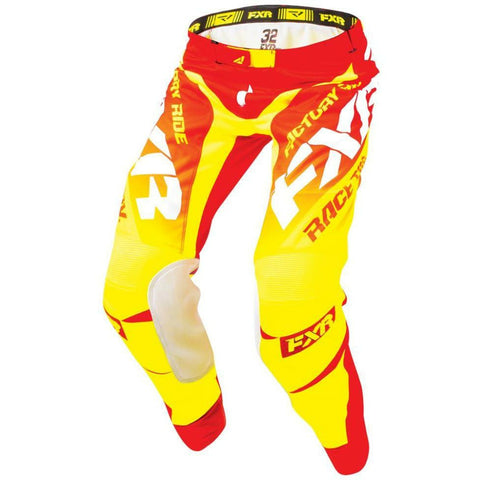 FXR MISSION MX PANT 18 Pants & Bibs FXR NUKE-RED/HI-VIS/WHITE 30