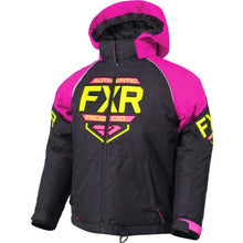 FXR Youth Clutch Jacket 2019 Jacket FXR Black/Elec Pink/Hi Vis 2