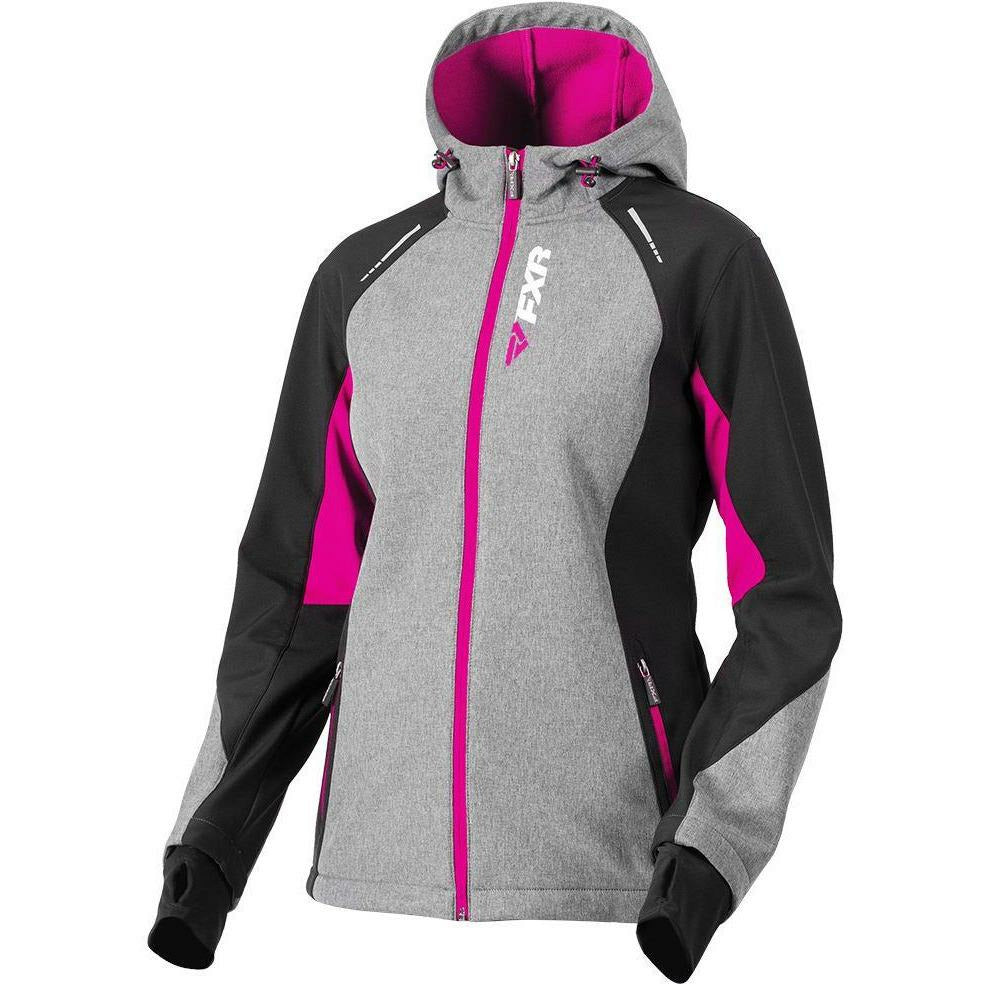 FXR W Pulse Softshell Jacket 2019 Jacket FXR Grey Heather/Fuchsia XS