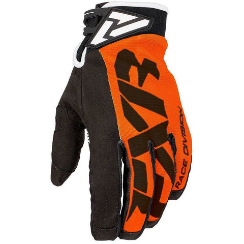FXR Cold Cross Race Adjustable Glove Gloves FXR Orange/Black XXXS