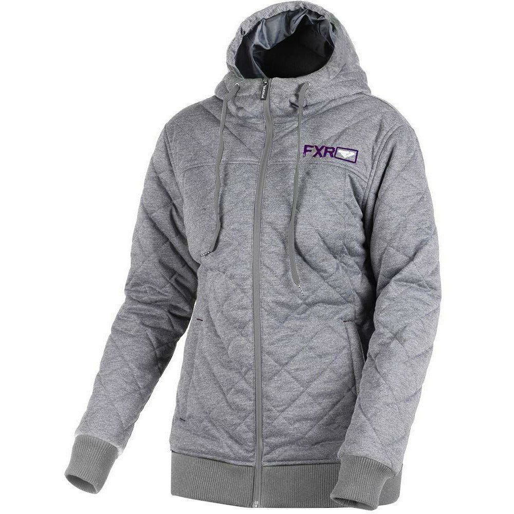 FXR W Adventure Quilted Hoodie 2019 Hoodie FXR Grey Heather/Plum XS