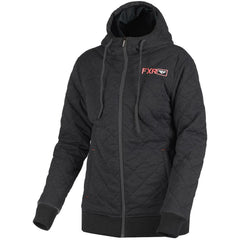 FXR W Adventure Quilted Hoodie 2019 Hoodie FXR Black Heather/Coral XS
