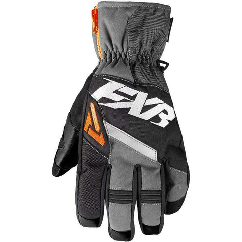 FXR M CX Short Cuff Glove Gloves FXR Blk/Char/Orange XS