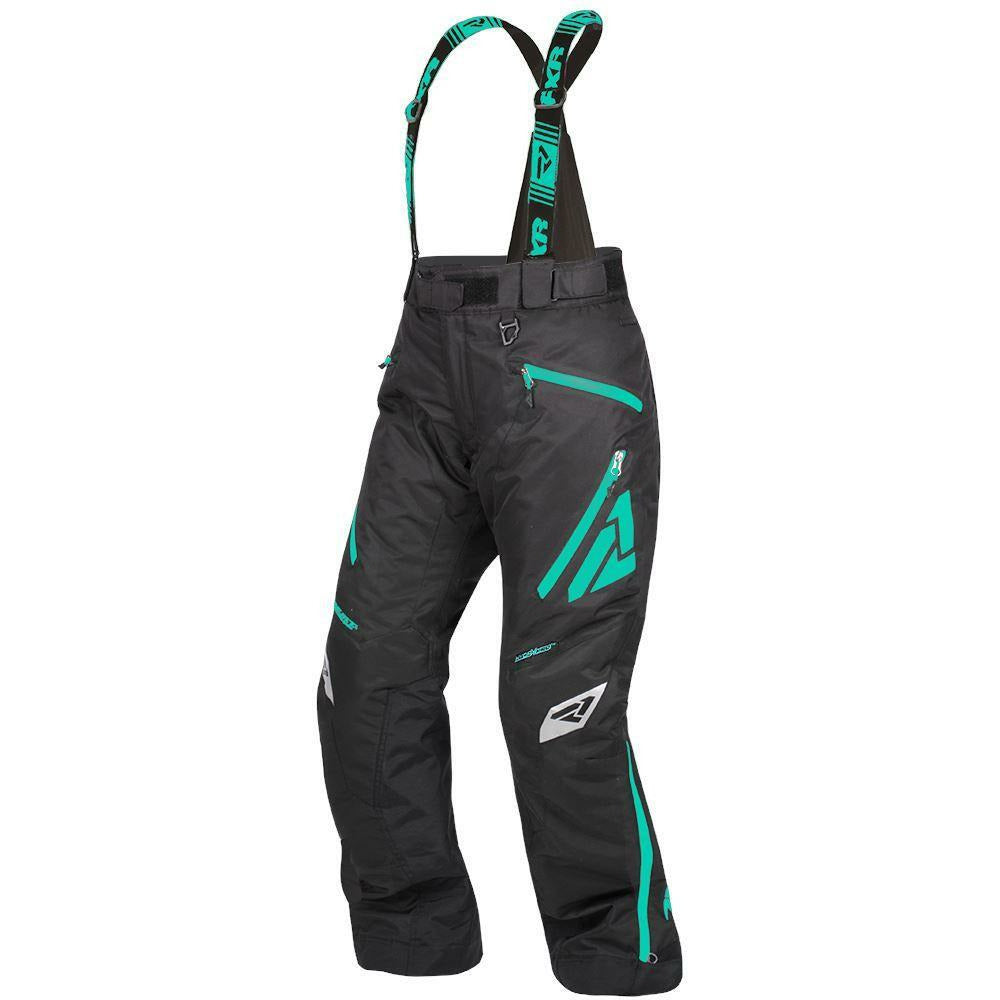 FXR W Vertical Pro Pant 2019 Pants & Bibs FXR Black/Mint 2
