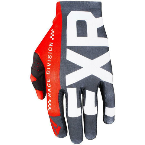 FXR SLIP ON LITE MX GLOVE 19 Gloves FXR WHITE/BLACK/RED SM