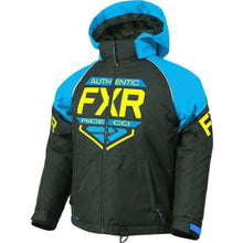 FXR Youth Clutch Jacket 2019 Jacket FXR Black/Blue/Hi Vis 2