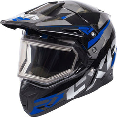 FXR FX-1 Team Helmet- Electric Shield Helmet FXR Black/Blue/Char XS
