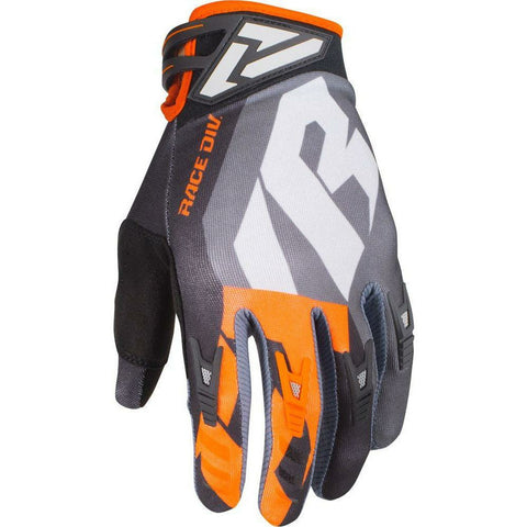 FXR FACTORY RIDE ADJUSTABLE MX GLOVE 19 Gloves FXR BLACK/ORG/GREY/CHAR XXXS(YS)