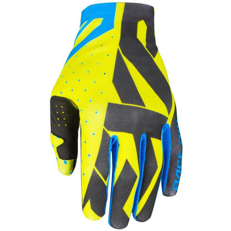 FXR SLIP ON LITE MX GLOVE 19 Gloves FXR HI VIS/BLACK/BLUE SM