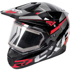 FXR FX-1 Team Helmet- Electric Shield Helmet FXR Black/Orange/Charcoal XS