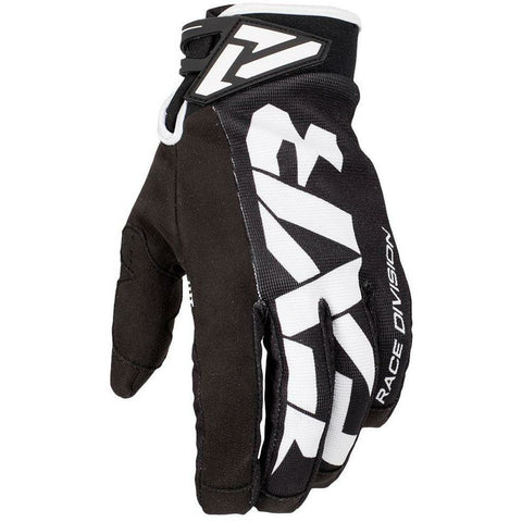 FXR Cold Cross Race Adjustable Glove Gloves FXR Black/White XXXS