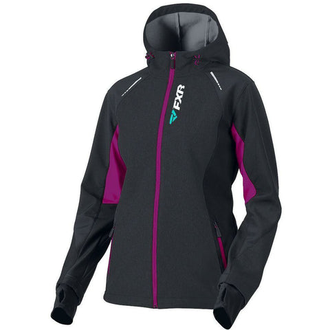 FXR W Pulse Softshell Jacket 2019 Jacket FXR Black/Wineberry XS