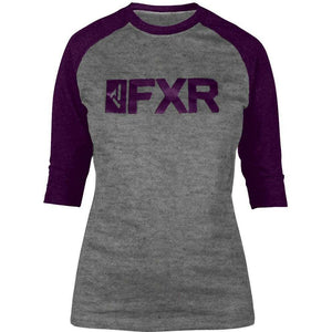 FXR W Evo 3/4 Sleeve Tech Shirt 2019 T-Shirt FXR Grey Heather/Plum XS