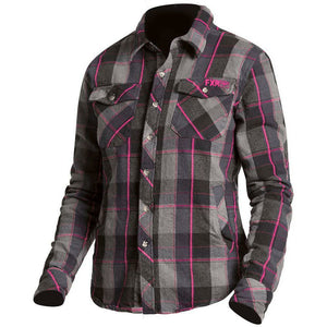 FXR W Timber Plaid Shirt 2019 Flannel FXR Charcoal/Fuchsia XS