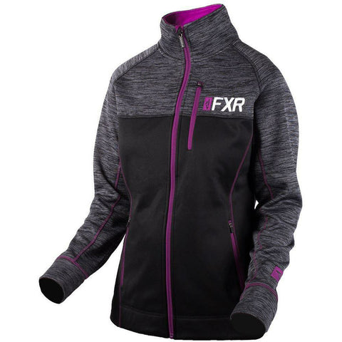 FXR W Elevation Tech Zip-up 2019 Hoodie FXR Black/Wineberry XS