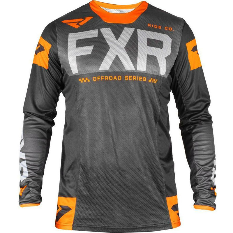 FXR HELIUM OFF-ROAD JERSEY 19 Jersey FXR BLACK/CHAR/LT GREY/ORANGE SM