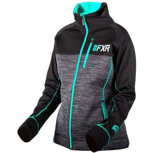 FXR W Elevation Tech Zip-up 2019 Hoodie FXR Char Heather/Mint XS