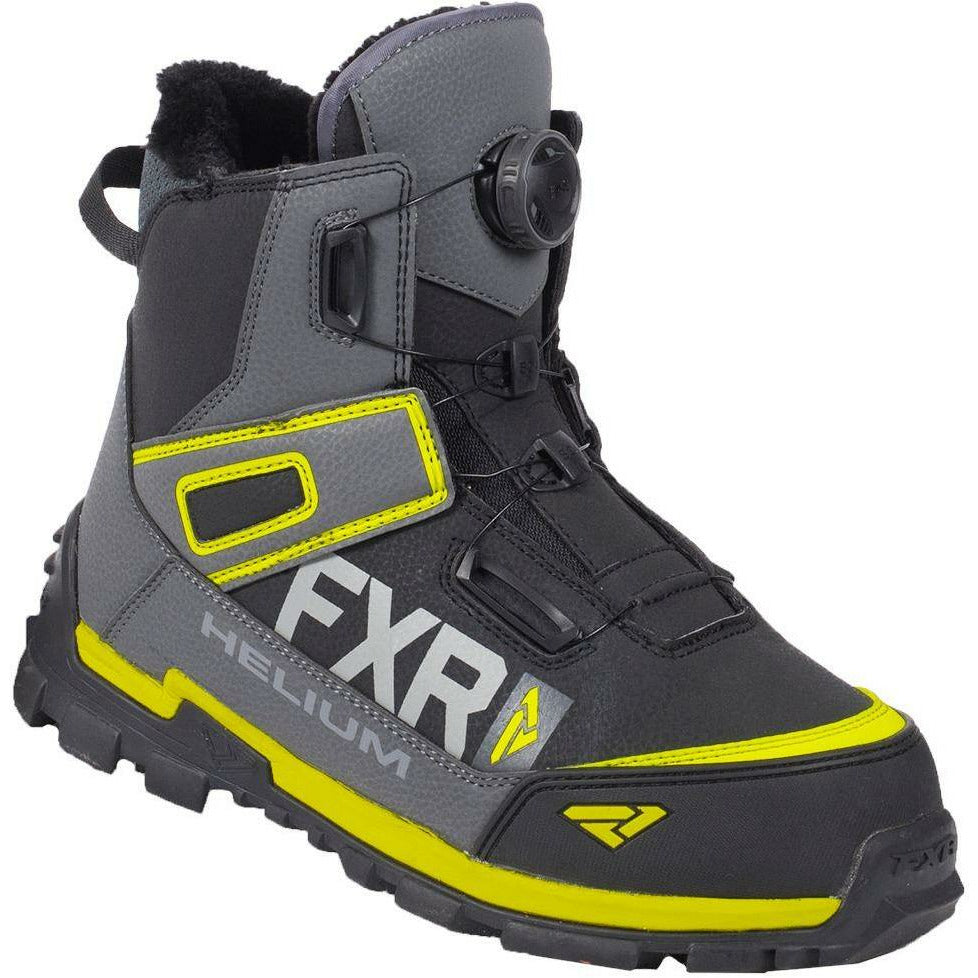 FXR Helium Outdoor BOA Boot 2019 Footwear FXR Black/Char/Hi Vis 5\7