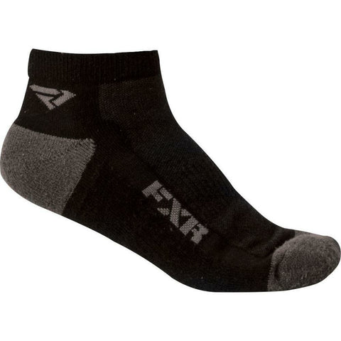 FXR Men's Turbo Ankle Socks (3 pack) 2019 Footwear FXR Black/Charcoal OS