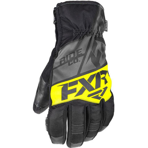 FXR M Fuel Short Cuff Glove 2019 Gloves FXR Black/Char/Hi Vis XS