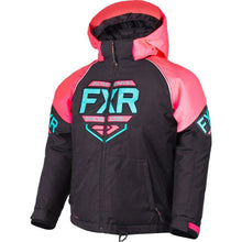 FXR Youth Clutch Jacket 2019 Jacket FXR Black/Coral/Mint 2
