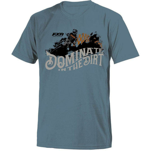 FXR M Dirt T-Shirt 2019 T-Shirt FXR Slate/Copper S