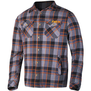 FXR M Timber Plaid Shirt 2019 Flannel FXR Charcoal/Orange S