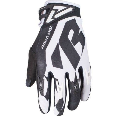 FXR FACTORY RIDE ADJUSTABLE MX GLOVE 19 Gloves FXR BLACK/WHITE XXXS(YS)