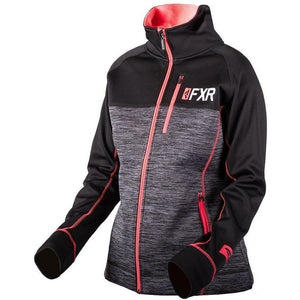 FXR W Elevation Tech Zip-up 2019 Hoodie FXR Char Heather/Coral XS
