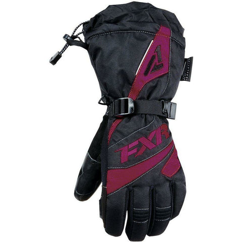 FXR W Fusion Glove 2019 Gloves FXR Black/Wineberry XS