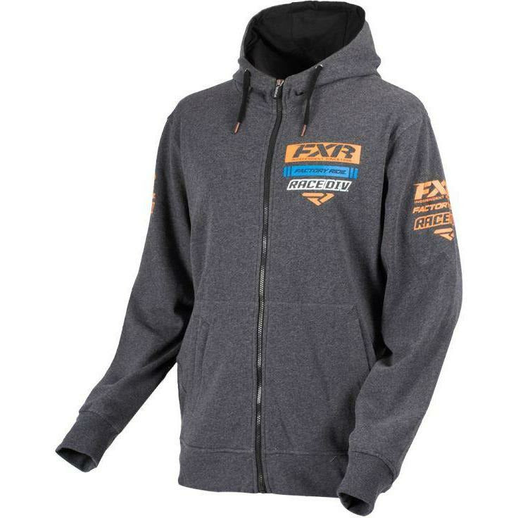 FXR Race Division Mens Hoodie | Clearance Hoodie FXR Char Heather/Org S