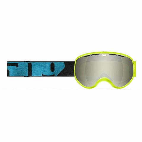 509 Ripper Youth Snow Goggle Goggles 509 2020 Hi-Vis Blue Chrome Mirror/Yellow Tint