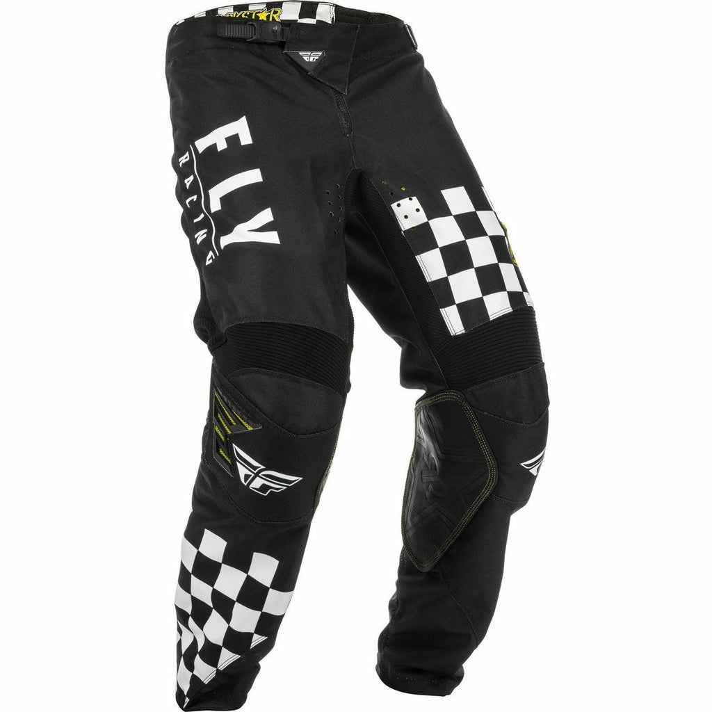 Fly Racing Kinetic Mesh Rockstar Pants Pants & Bibs Fly Racing Black/White 28S