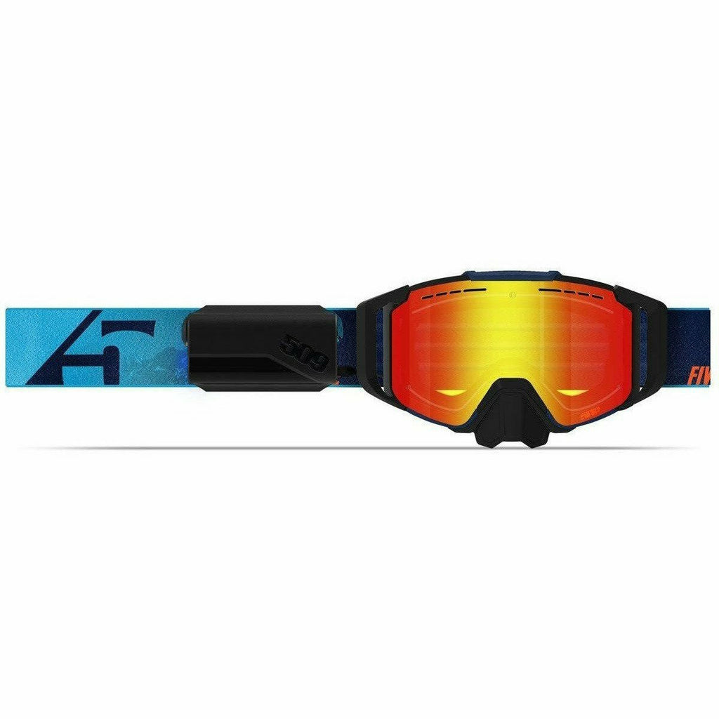 509 Sinister X6 Ignite Goggle 2021 Goggles 509 Cyan Navy Fire Mirror w/Lt Rost Tint (21)