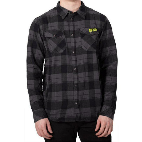 FXR Timber Plaid Mens Shirt 2020 Casual FXR Black/Grey S