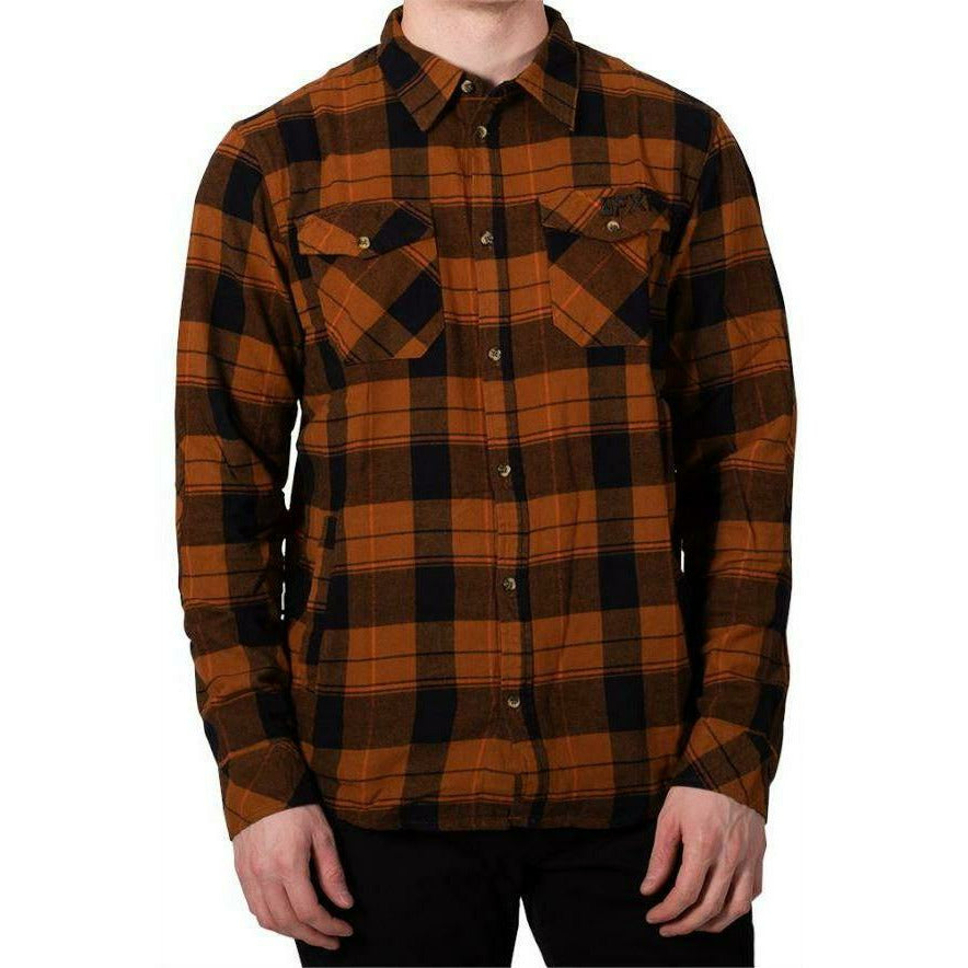 FXR Timber Plaid Mens Shirt 2020 Casual FXR Burnt Orange/Black S