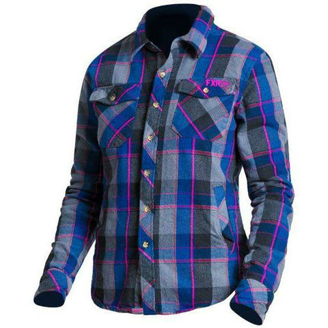 FXR Timber Plaid Women's Shirt Flannel FXR Charcoal/Fuchsia x-small
