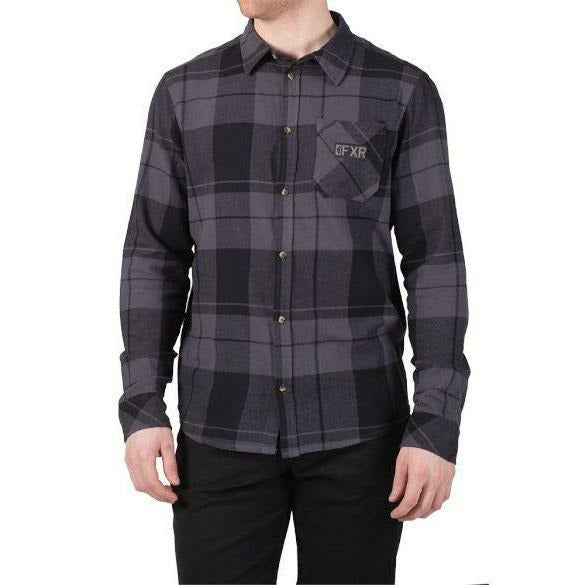 FXR Track Plaid Mens Shirt 2020 Casual FXR Black/Grey S